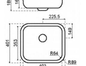 LANESTO-Spoelbak-310060N-afmetingen