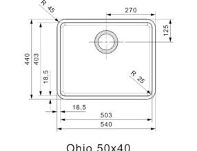 Reginox-Spoelbak-Ohio-50x40-Atomic-Grey-afmetingen